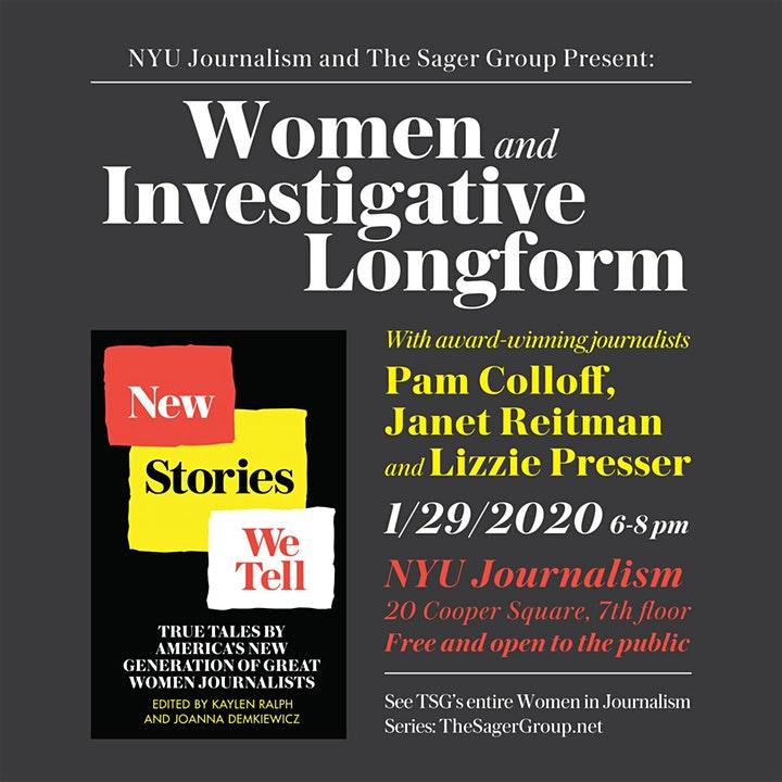 Event Poster - Women & Investigative Longform