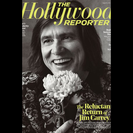 Image credit: Austin Hargrave, The Hollywood Reporter's winning issue featuring Jim Carrey on the cover