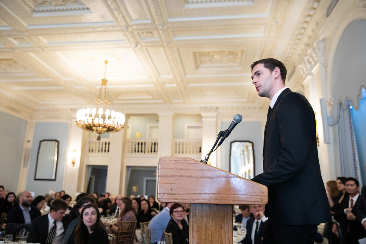 William Martin Delivering Speech