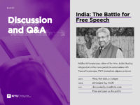 India: The Battle for Free Speech