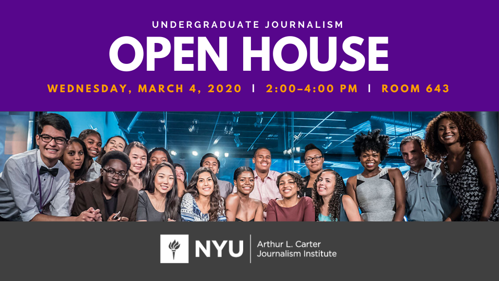 Undergraduate Journalism Open House - Event Poster