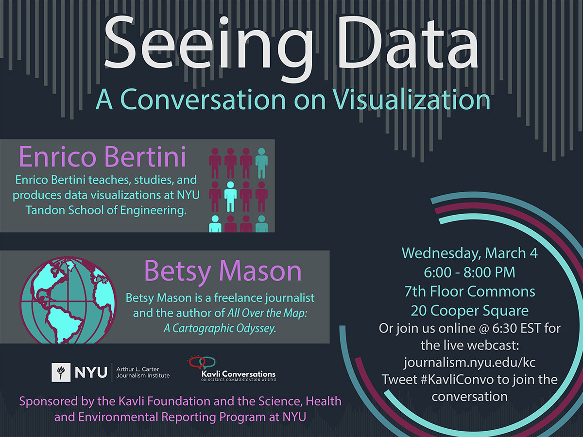Seeing Data - A Conversation on Visualization - Event Poster (see event page for details)