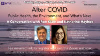 Event Poster - 2020 Spring - After COVID: Public Health, the Environment, and What's Next (See event page for details)