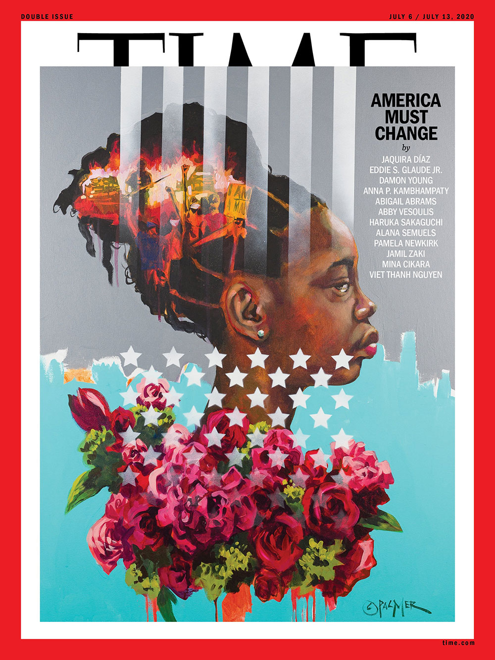 July 6-13, 2020 TIME Magazine Cover - America Must Change faetured Prof. Pamela Newkirk