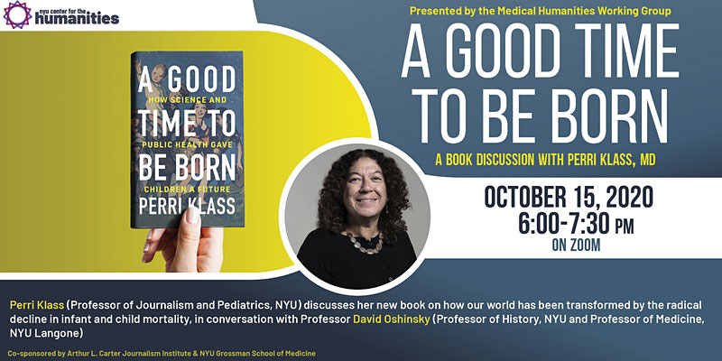 Event Poster - 2020 Fall - A Good Time To Be Born: A Book Discussion - See event page for details