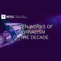 Event - 2020 Fall - Top Ten Works of Journalism of the Decade