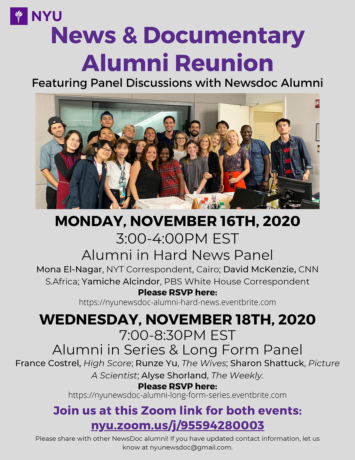 Event Poster - NewsDoc Reunion - See news post for details