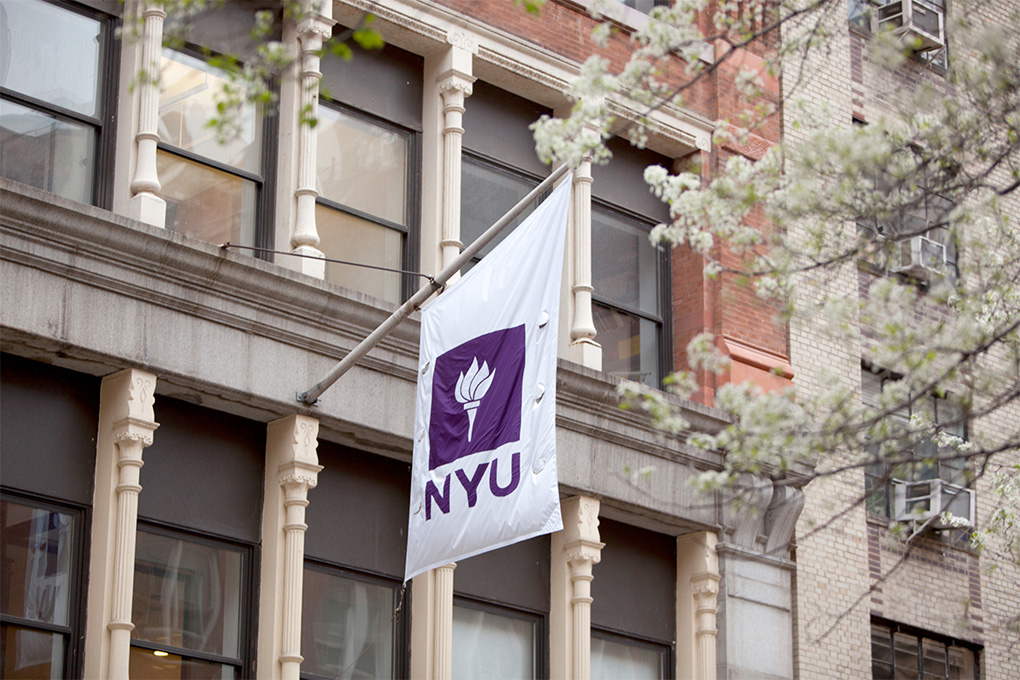 NYU Flag. Photo credit: Nick Johnson / NYU