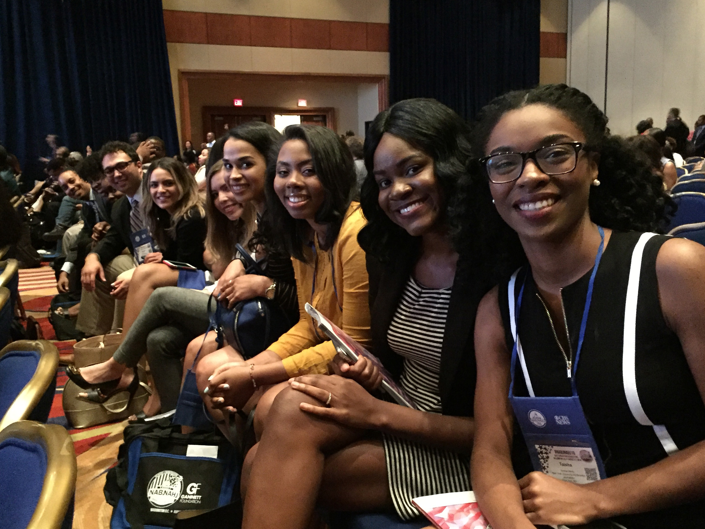 NYU Journalism students at NABJ/NAHJ convention.