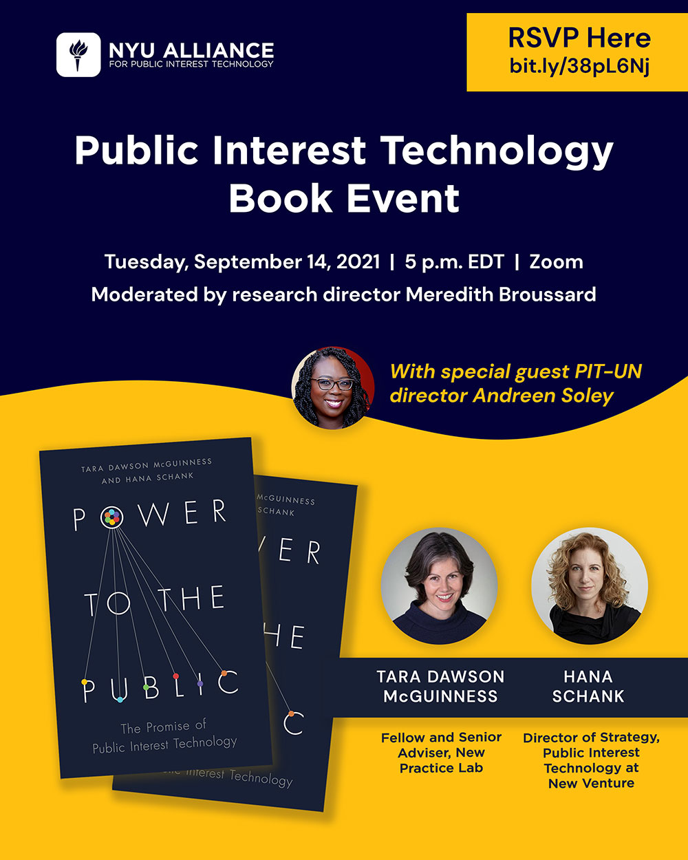 Event Poster - 2021 Fall - Public Interest Technology Book Event - See event page for details