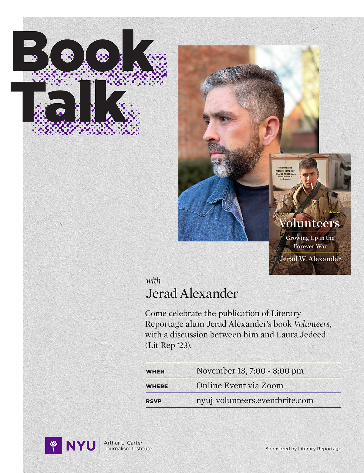 Event Poster 2021 Fall - Volunteers Book Talk - See event page for details