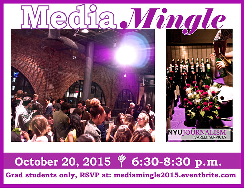 Media Mingle - Event Poster - 20 Oct 2015
