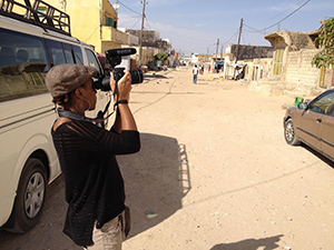Mel Bailey at work in St. Louis, Senegal