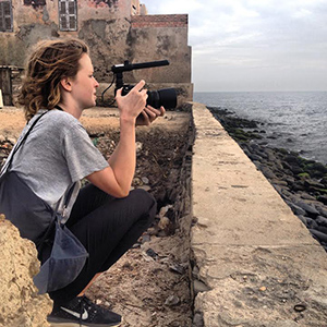 Alison Withers filming in Dakar, Senegal
