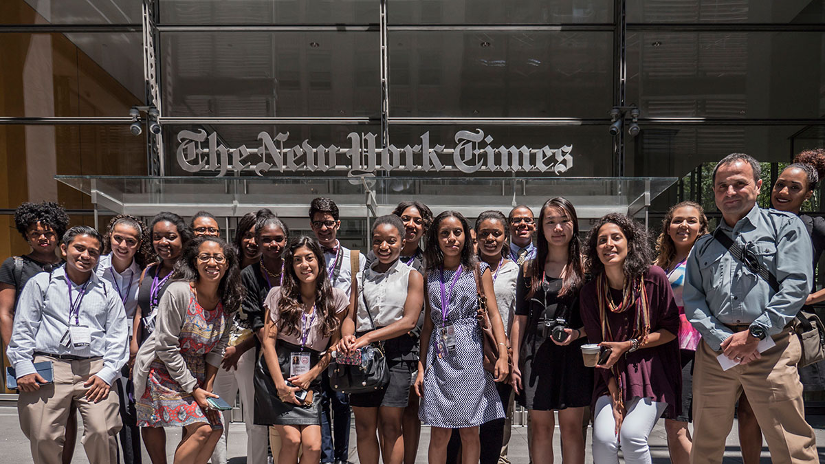 Urban Journalism Workshop Group Photo at The New York Times