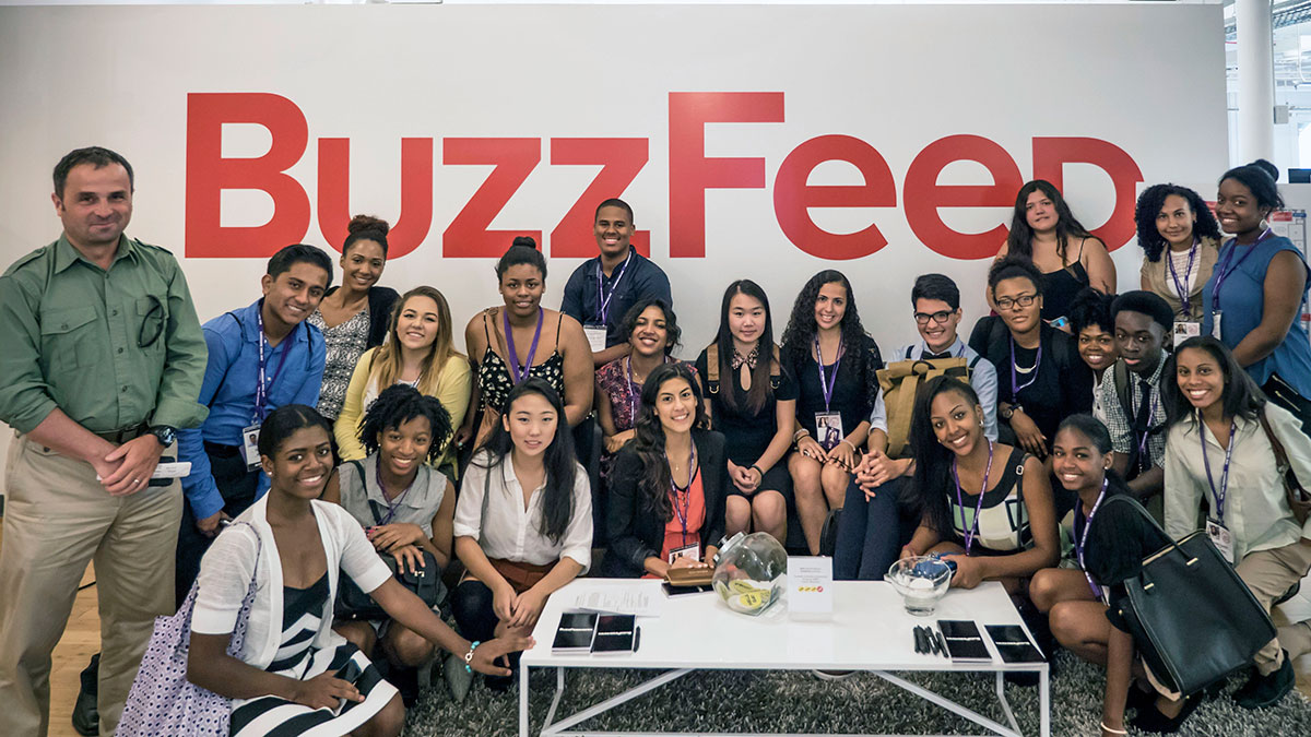 Urban Journalism Workshop Group Photo at Buzzfeed
